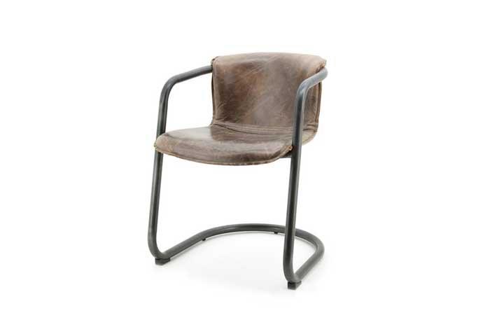 leder freischwinger stuhl daan industriedesign. Black Bedroom Furniture Sets. Home Design Ideas
