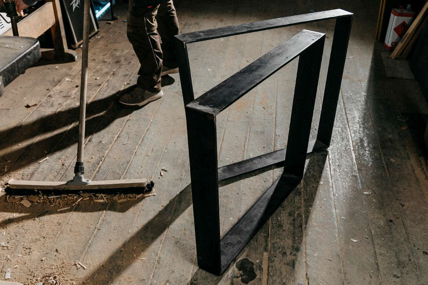 Flachband Tischgestell Horten 10 im 2er Set
