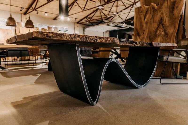 Stahl Tischgestell Mittelfuß Brandung nach Maß