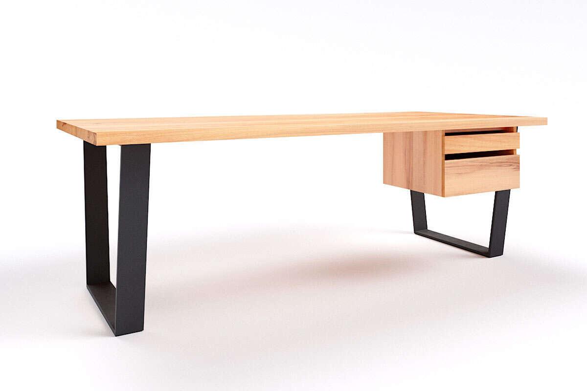 Holz Schreibtisch Anan Wildbuche