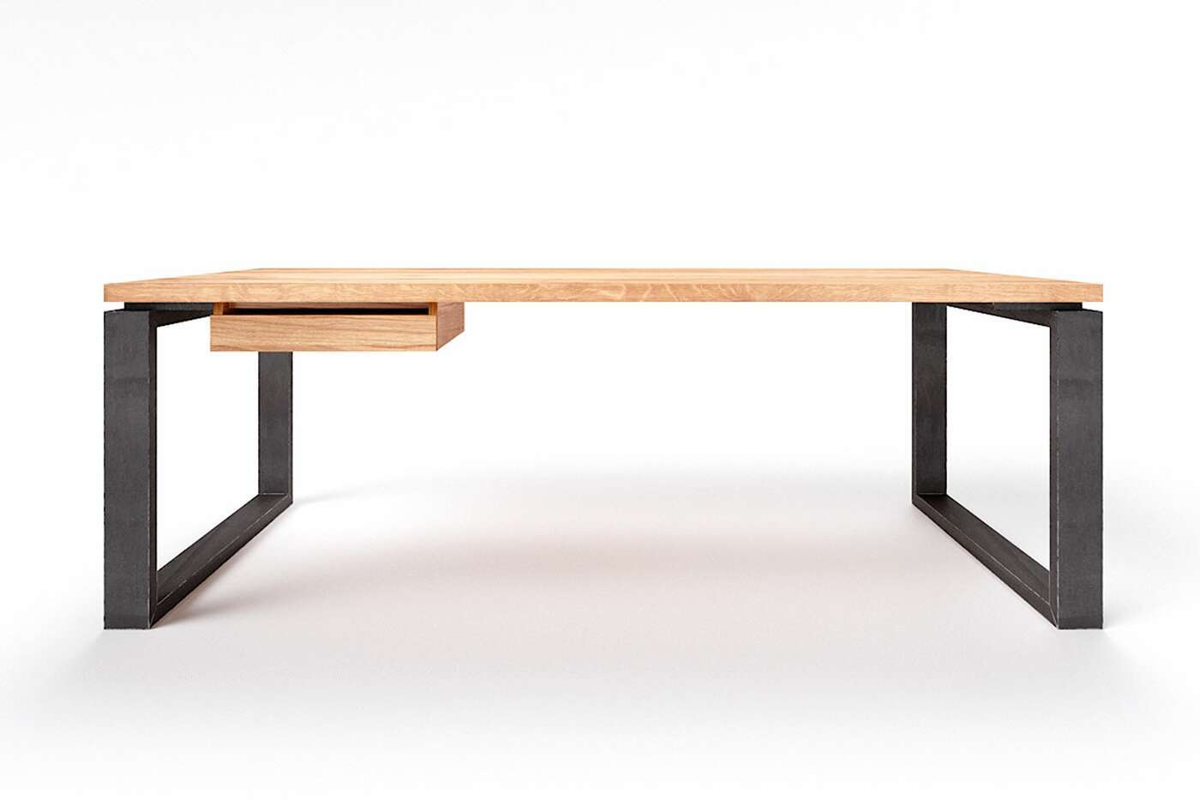Massivholz Schreibtisch nach Maß Vardo Eiche