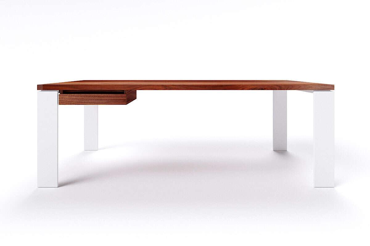 Moderner Schreibtisch Nussbaum nach Maß Karuk
