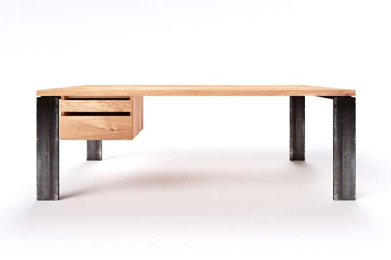 Eiche Massivholz Schreibtisch modern Karuk