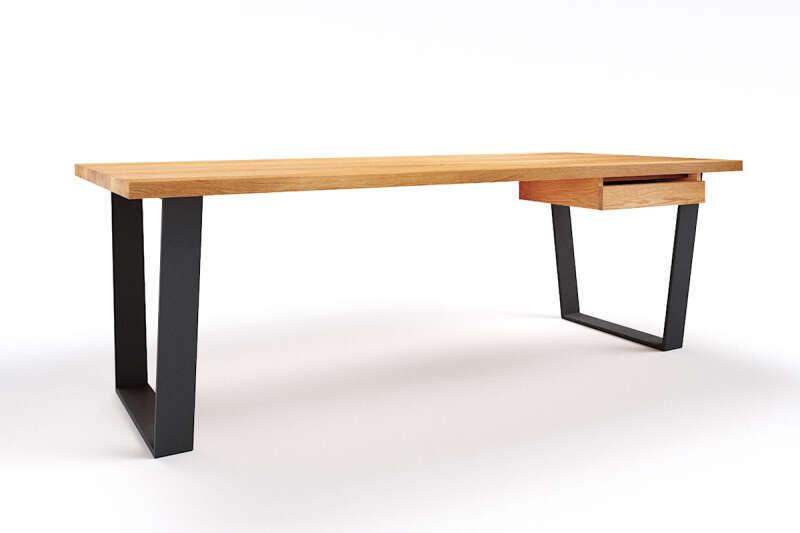 Schreibtisch Eiche astfrei Anan auf Maß