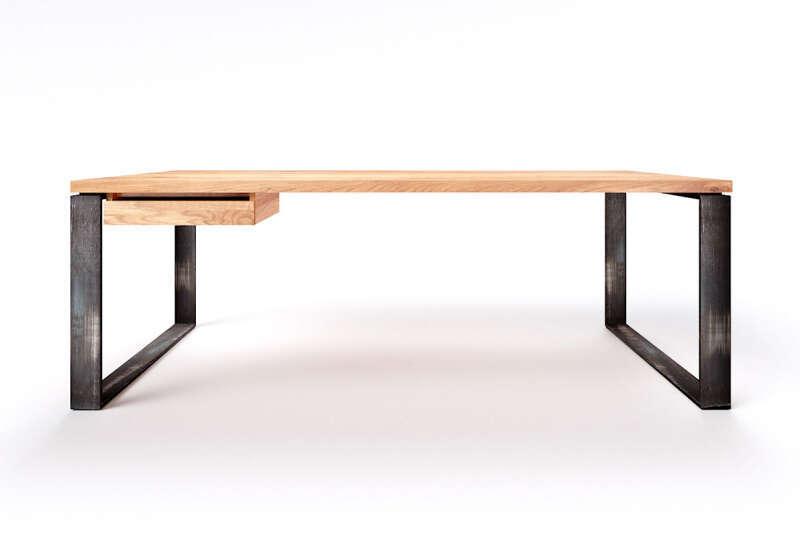 Schreibtisch Eiche massiv Horik 10 Maßanfertigung