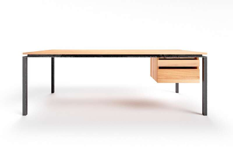 Schreibtisch minimalistisch Wildbuche Filigrando