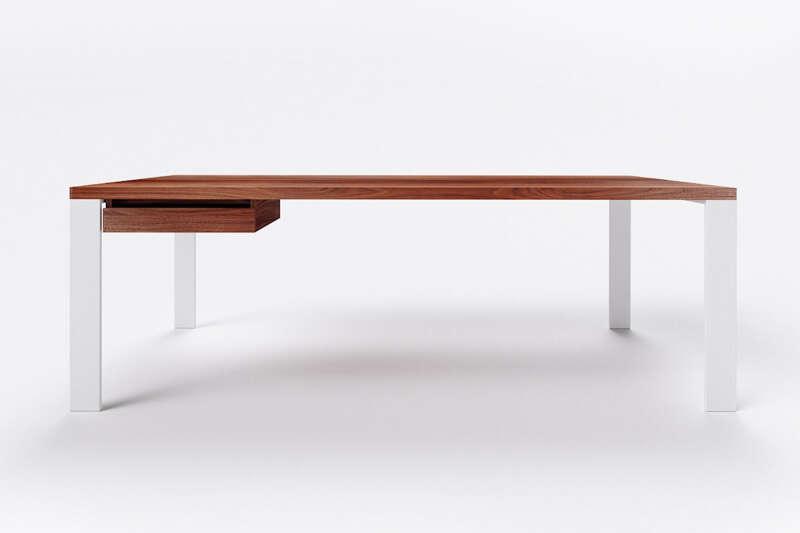 Schreibtisch modern Nussbaum massiv