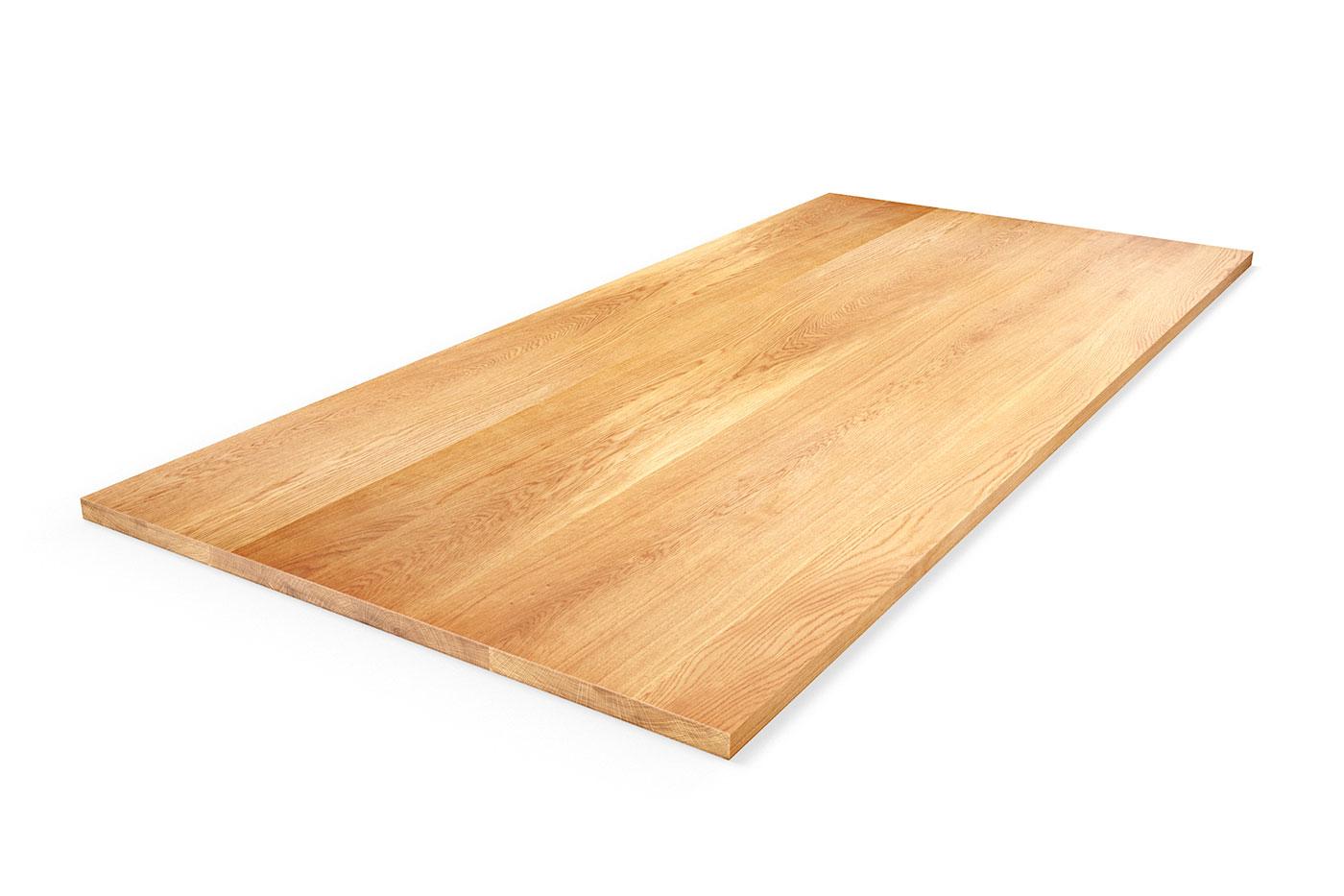 Eiche Echtholz Tischplatte nach Maß