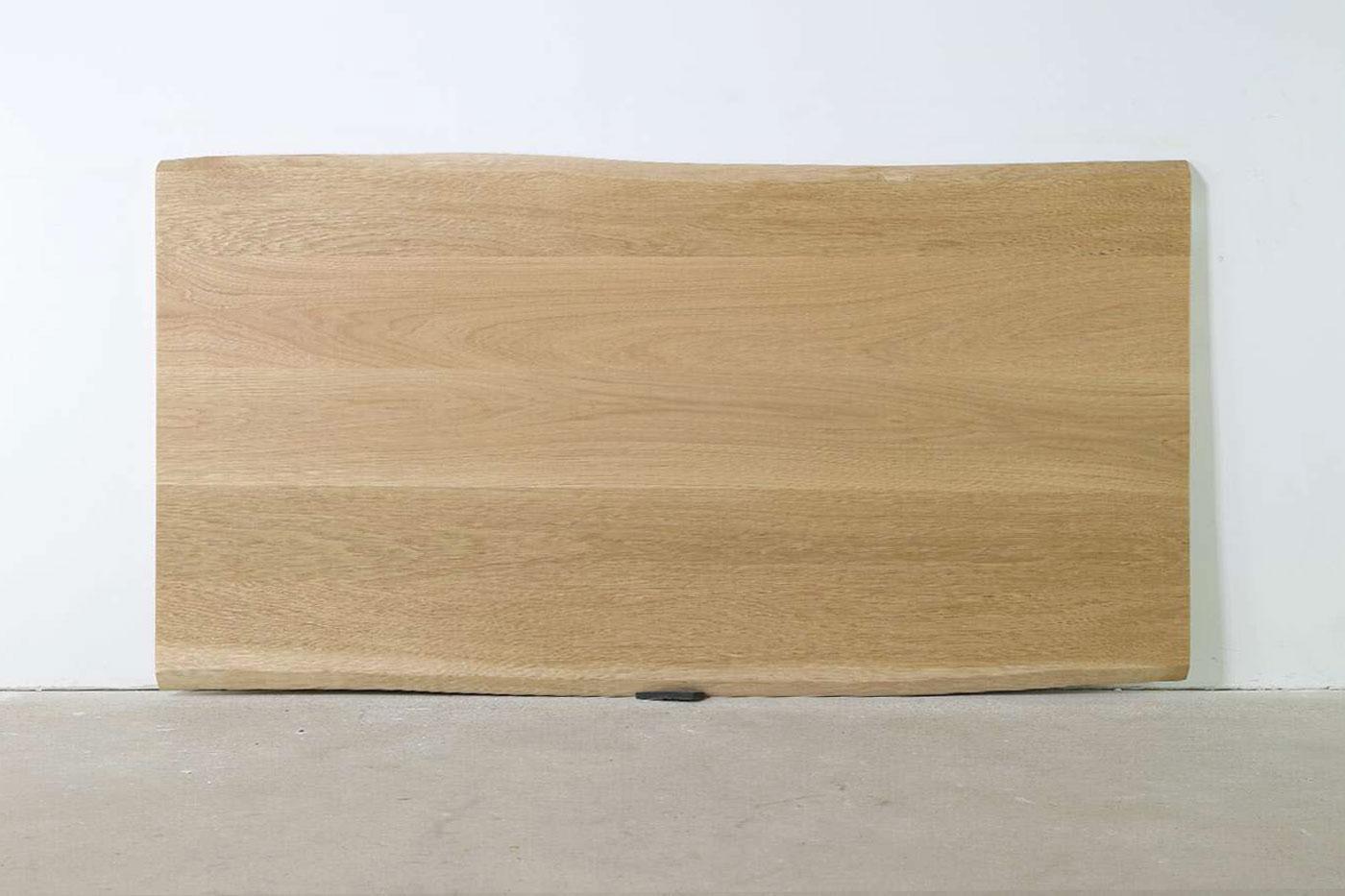Premium Baumkanten Tischplatte Eiche astfrei nach Maß