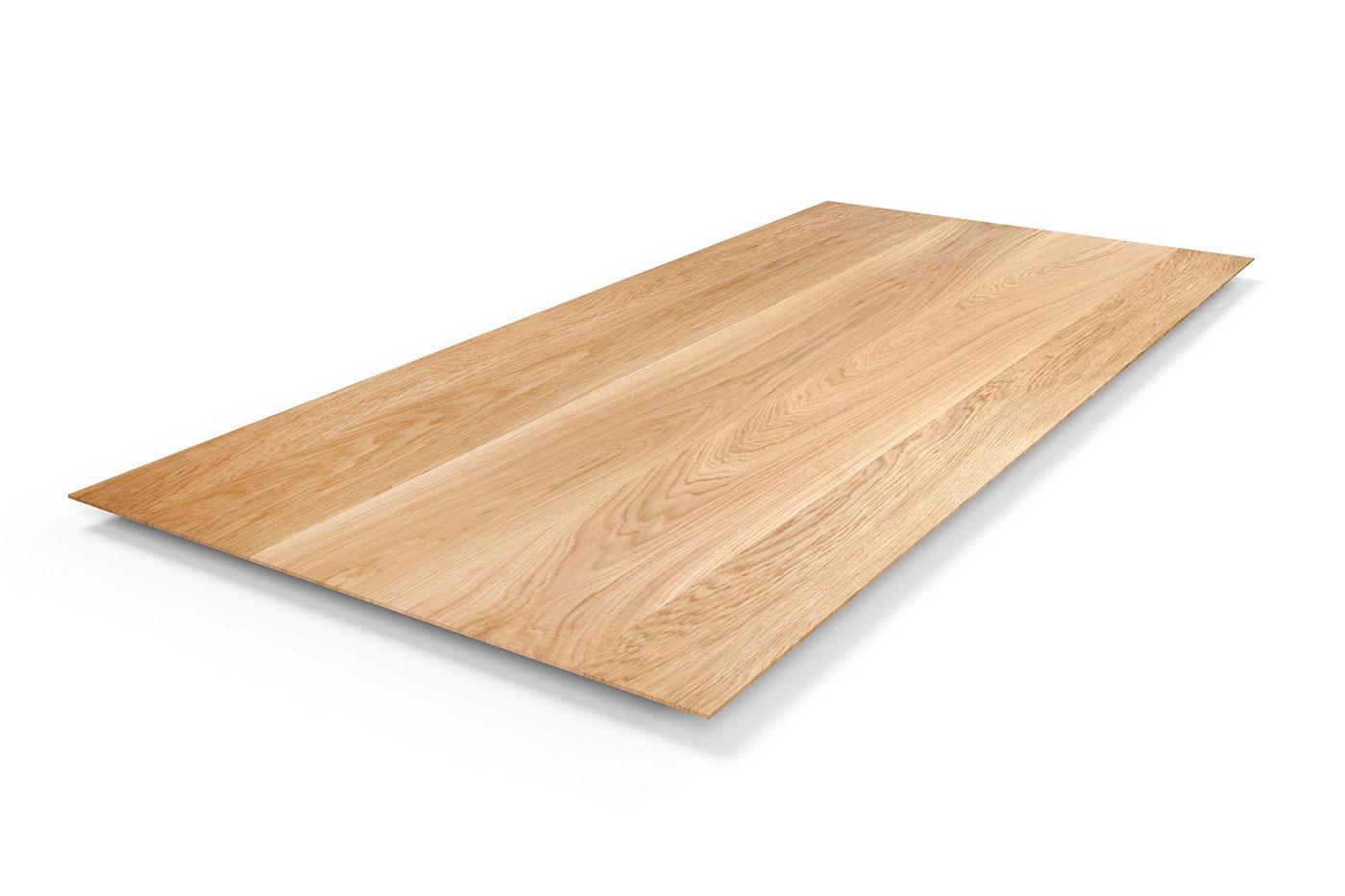 Schweizer Kante Tischplatte Eiche