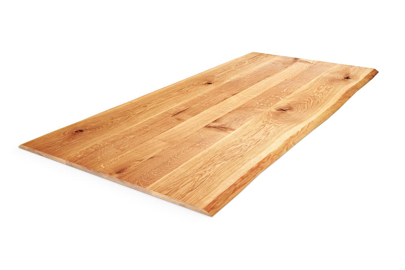Eiche Tischplatte Baumkante