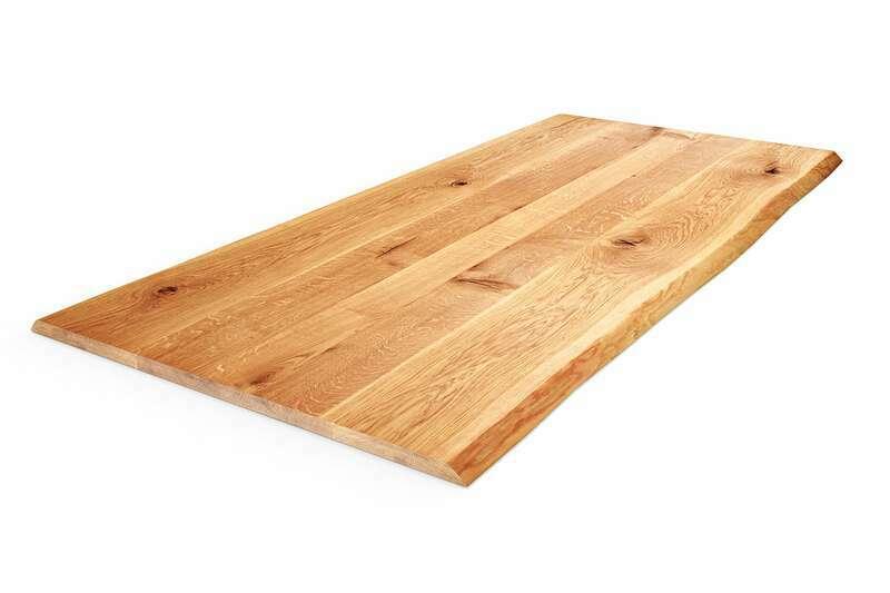 Tischplatte Eiche mit Baumkante