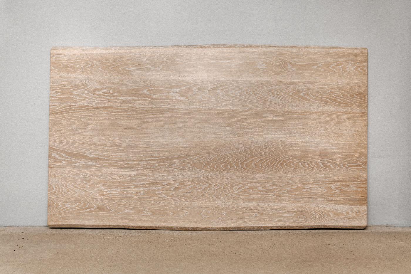 Eiche White Washed Tischplatte mit Baumkante