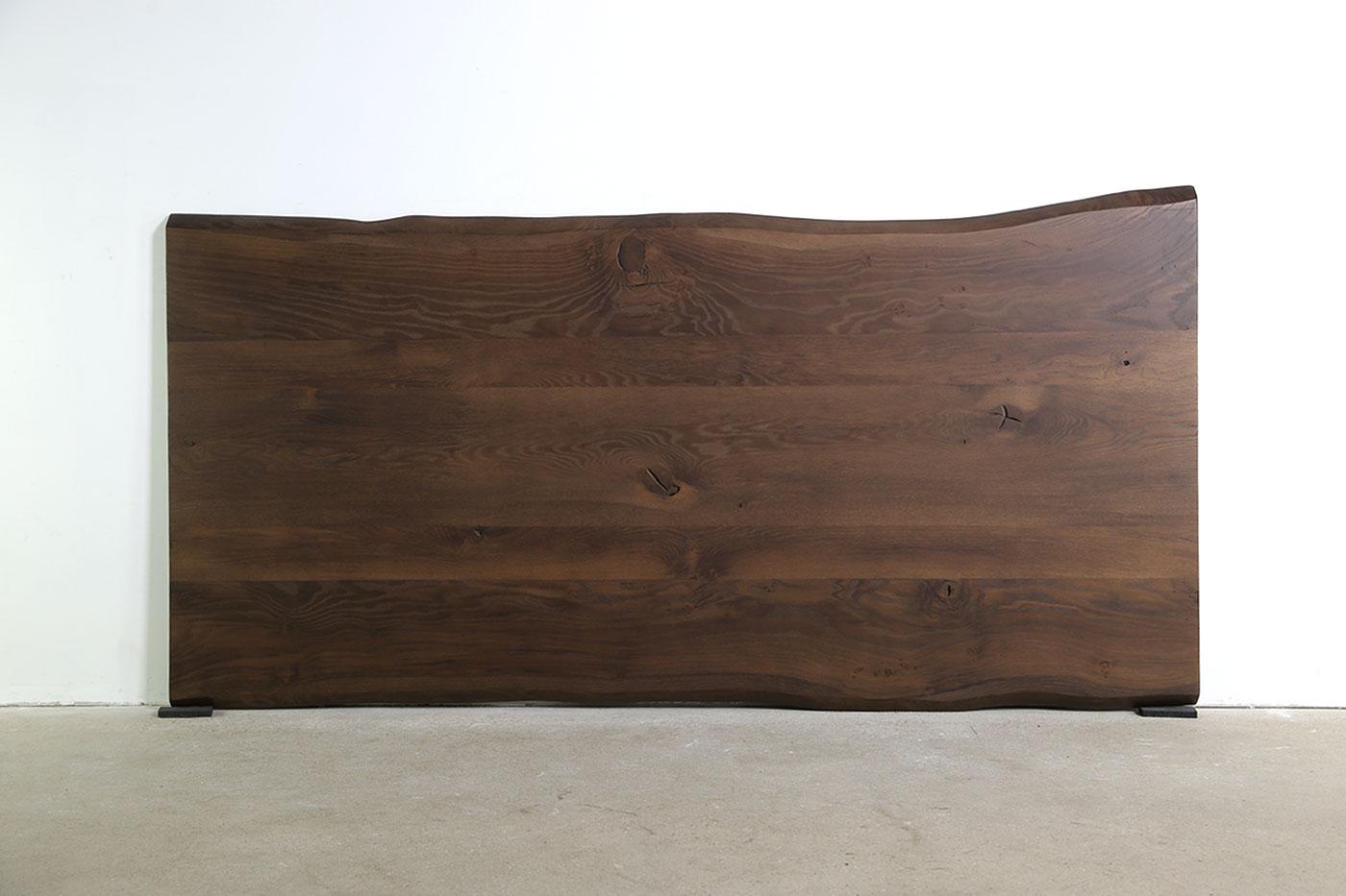 Baumkanten Tischplatte Eiche Smoked nach Maß