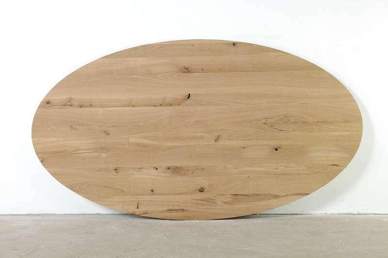 Eiche Tischplatte oval nach Maß
