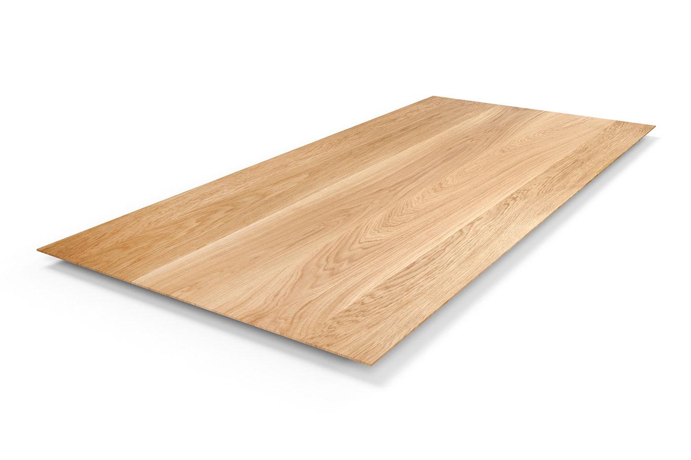 Eiche Tischplatte Facette 4cm astfrei