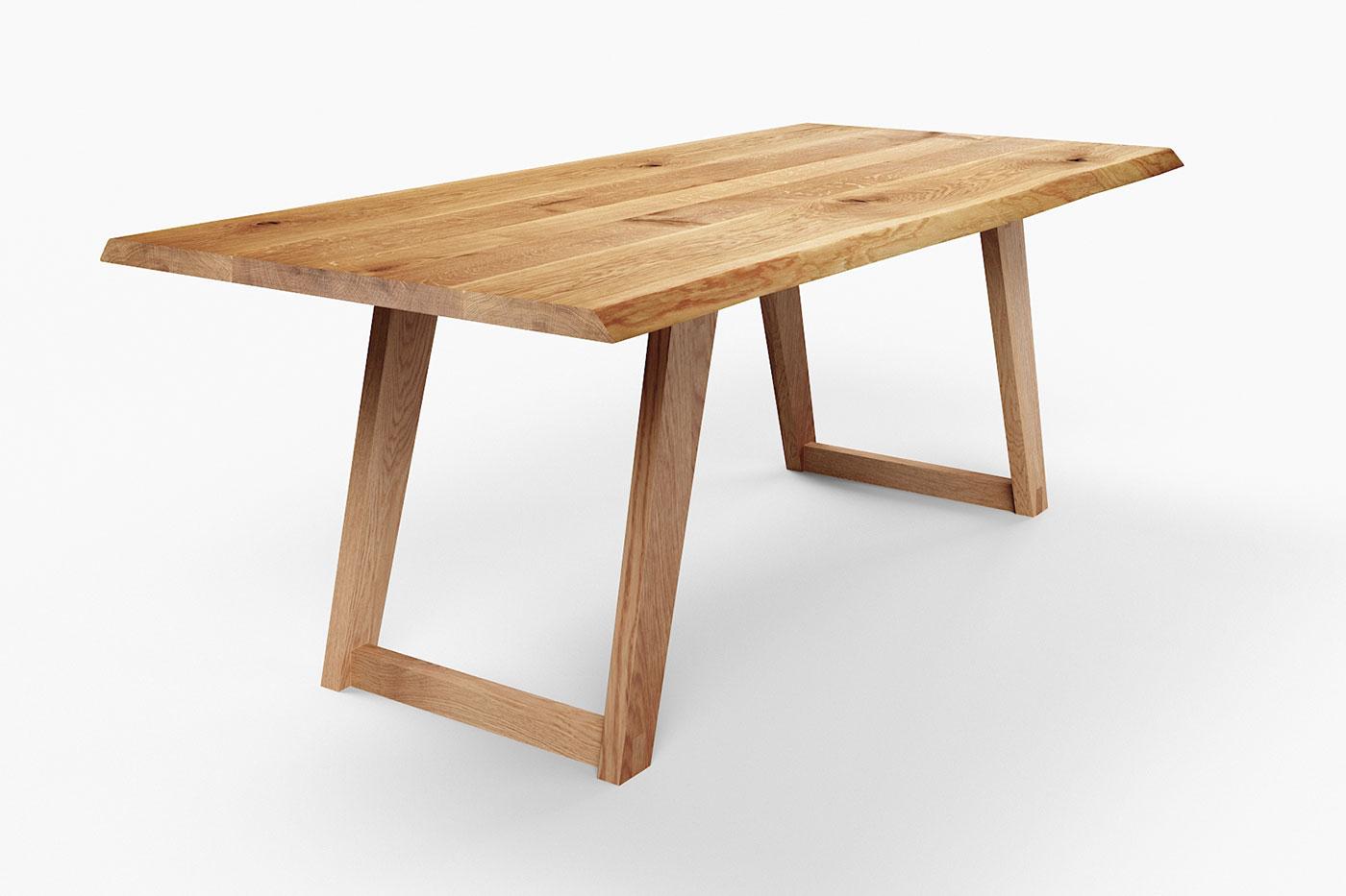 Tisch Eiche mit Baumkante
