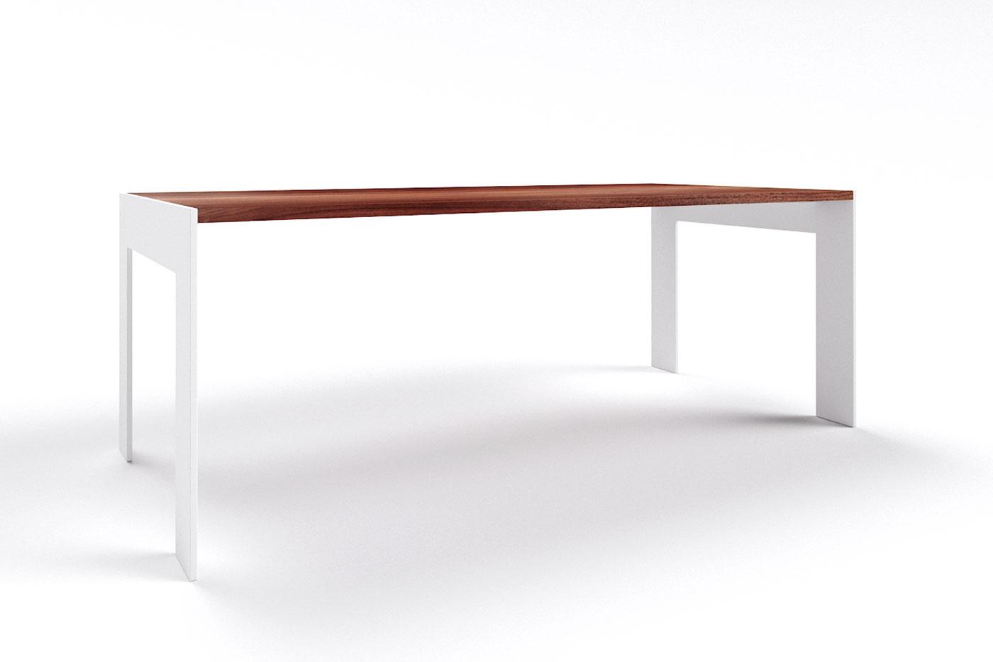 Design Holztisch Nussbaum auf Maß