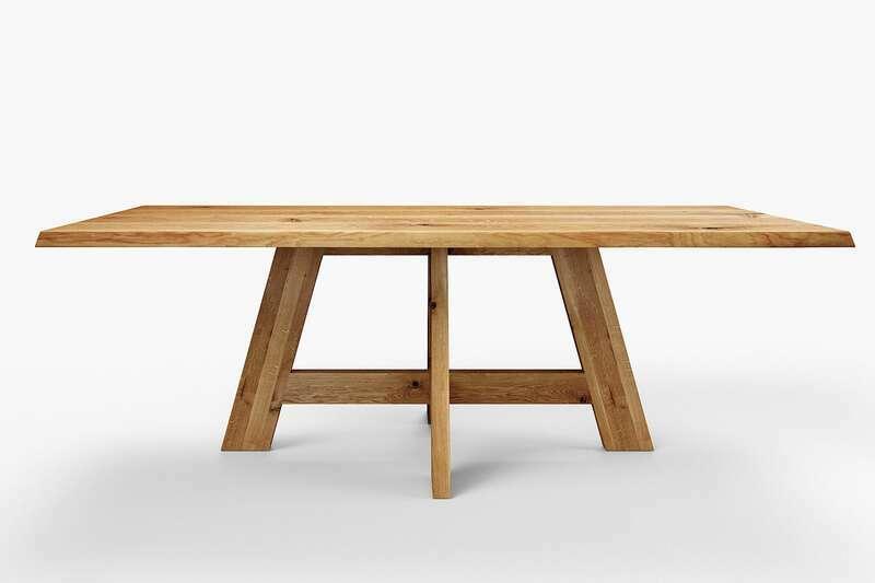 Tisch mit Baumkante Eiche
