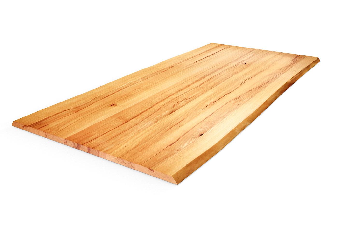 Kernbuche Tischplatte mit Baumkante nach Maß
