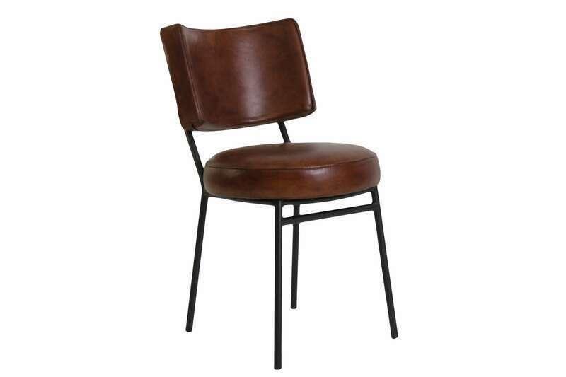 Bistro Stuhl Leder gepolstert