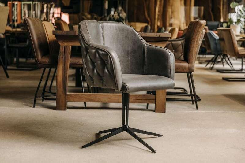 Esszimmer Drehstuhl mit Armlehne Leonardo-F