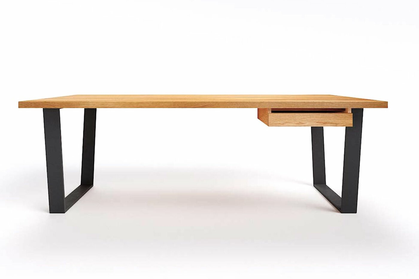 Moderner Echtholz-Schreibtisch im Minimal Design