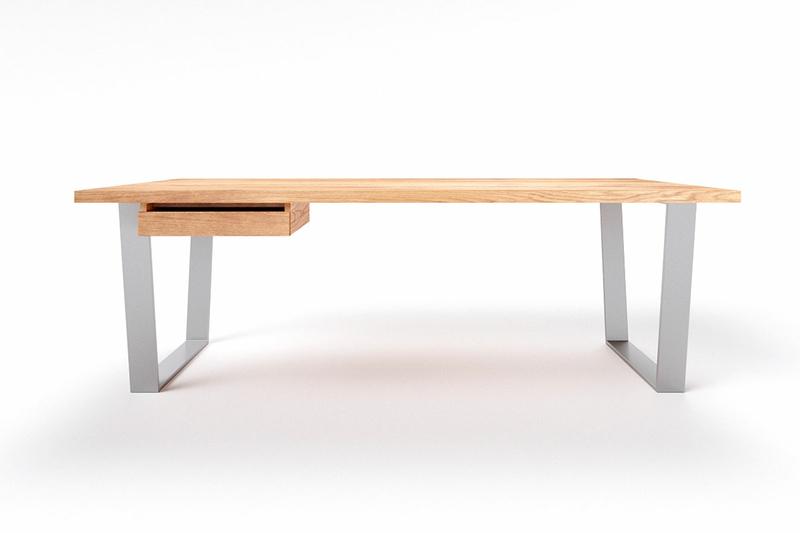 Metallkufen Schreibtisch Eiche Anan