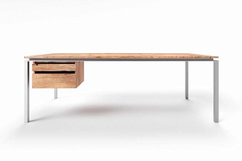 Schreibtisch modern Eiche Altholz Filigrando