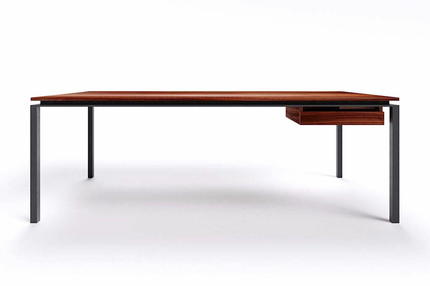 Schreibtisch modern Nussbaum nach Maß Filigrando