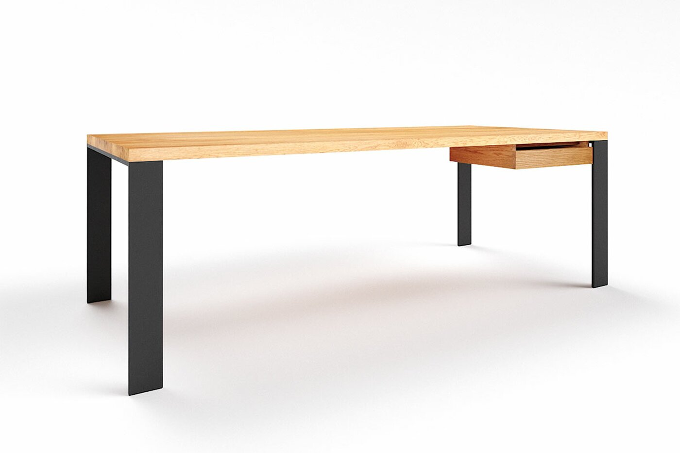 Premium Schreibtisch Eiche nach Maß Hartok 10 astfrei
