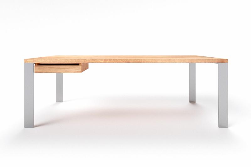 Schreibtisch Holz Metall Hartok Eiche