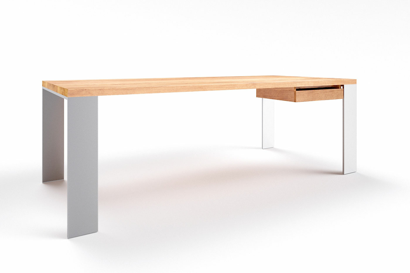 Schreibtisch massiv Eiche Hartok