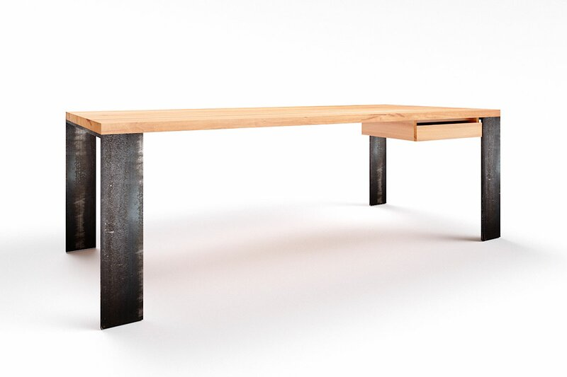 Schreibtisch Echtholz Kernbuche Hartok