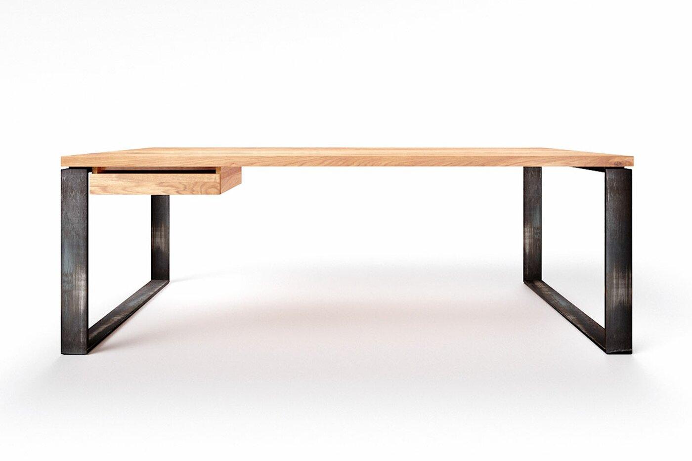 Massiver Eiche Schreibtisch Horik 10 astfrei nach Maß