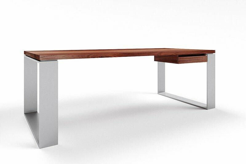 Schreibtisch Walnuss massiv nach Maß Horik