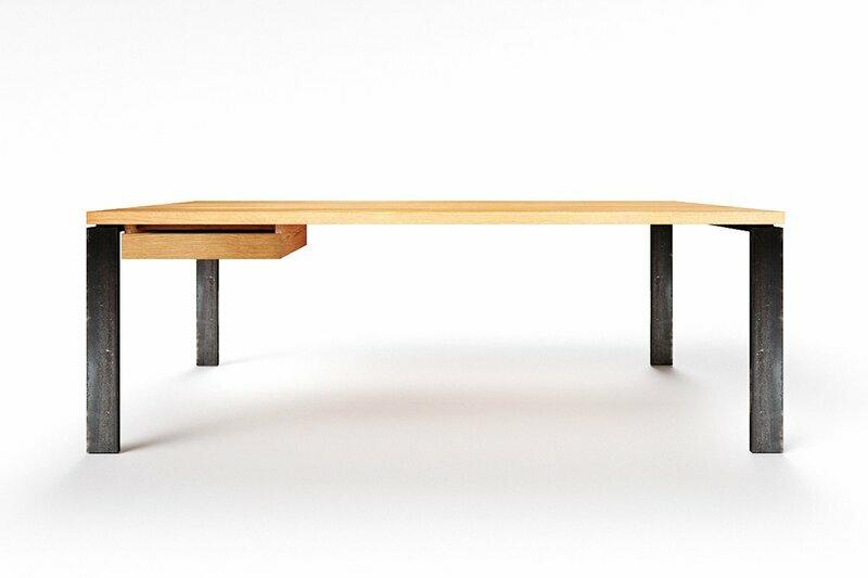Schreibtisch auf Maß Eiche astfrei Karuk
