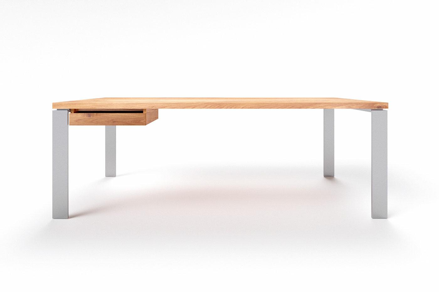 Moderner Schreibtisch Eiche Massivholz Karuk