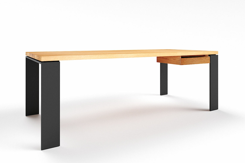 Schreibtisch Eiche massiv nach Maß Karuk 15 astfrei