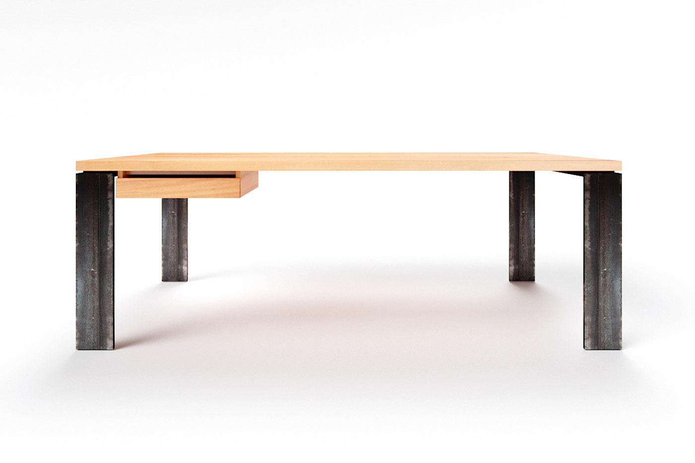 Buche Schreibtisch  nach Maß Karuk