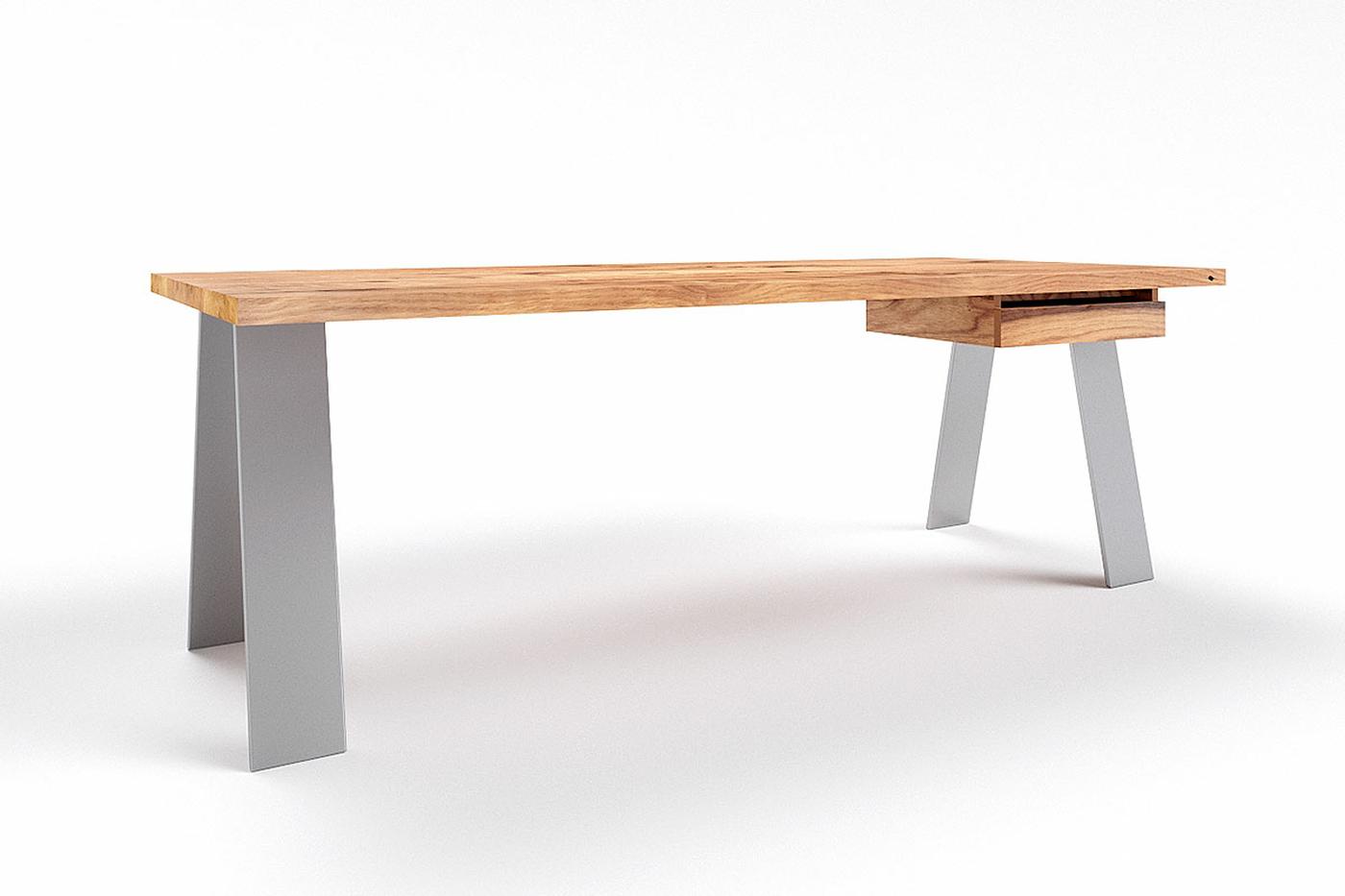 Alteiche Schreibtisch nach Maß Novo