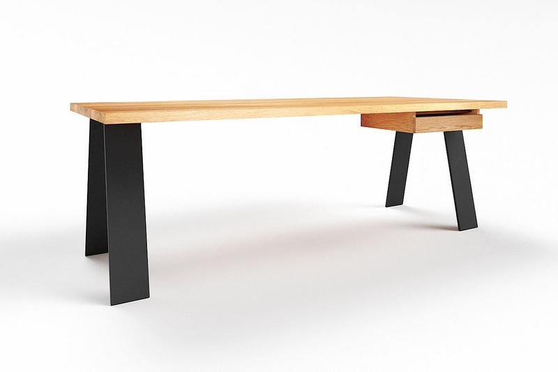 Schreibtisch Eiche astfrei nach Maß Novo
