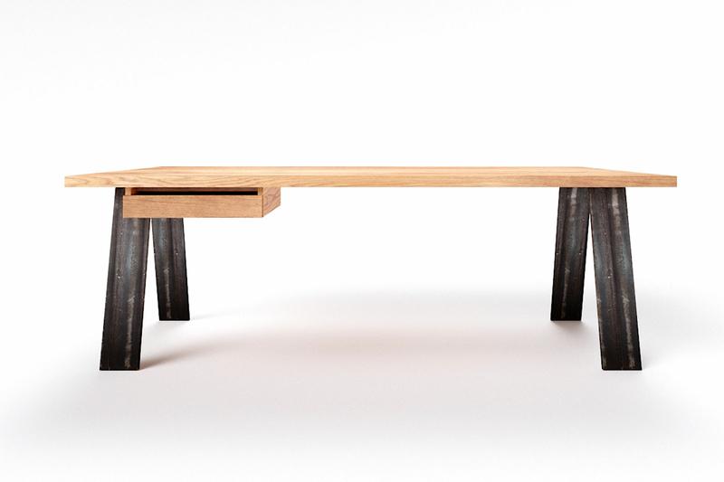 Eichenholz Schreibtisch Novo auf Maß
