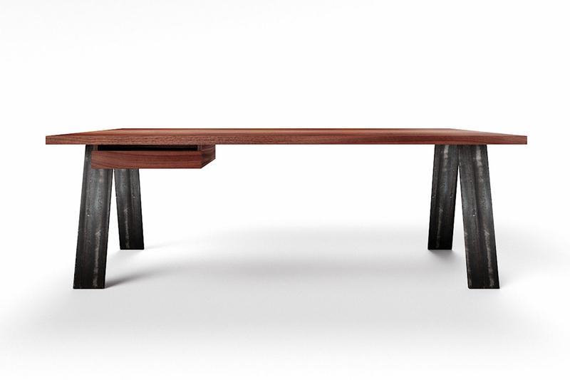 Schreibtisch Nussbaum modern auf Maß Novo