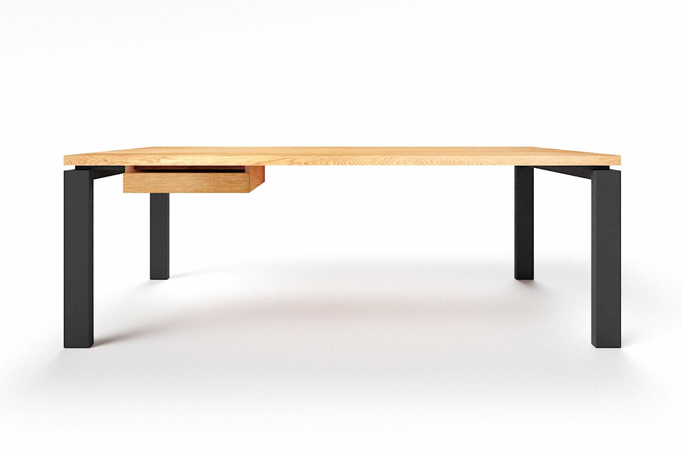 Schreibtisch modern Eiche auf Maß Vardak astfrei