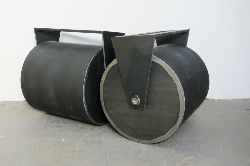 Stahl Tischgestell Walzenform auf Maß
