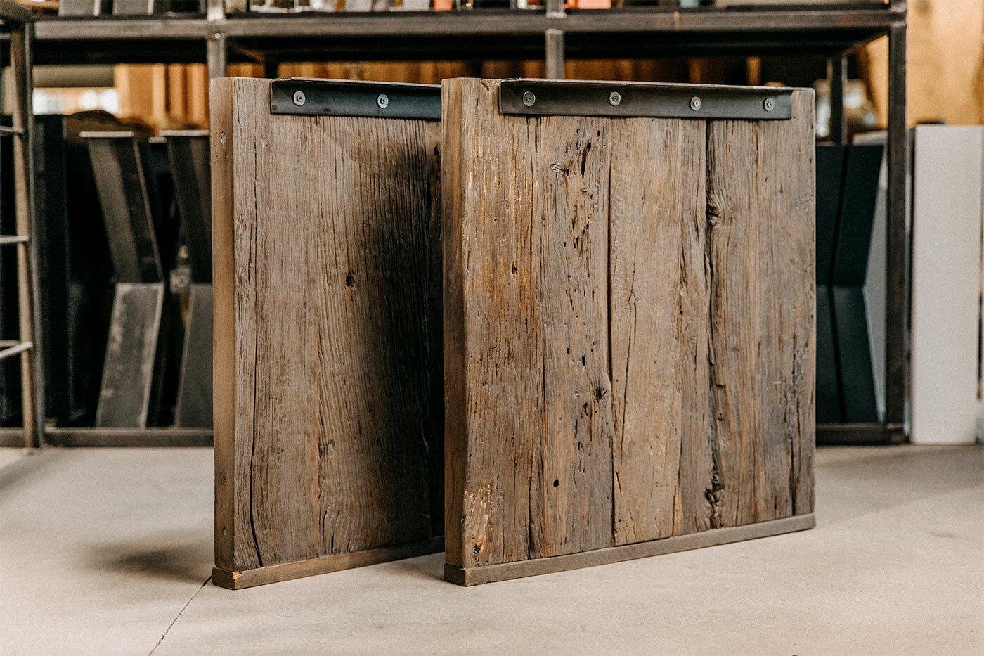 Holz Tischwangen Dixon Alte Eiche 2er Set