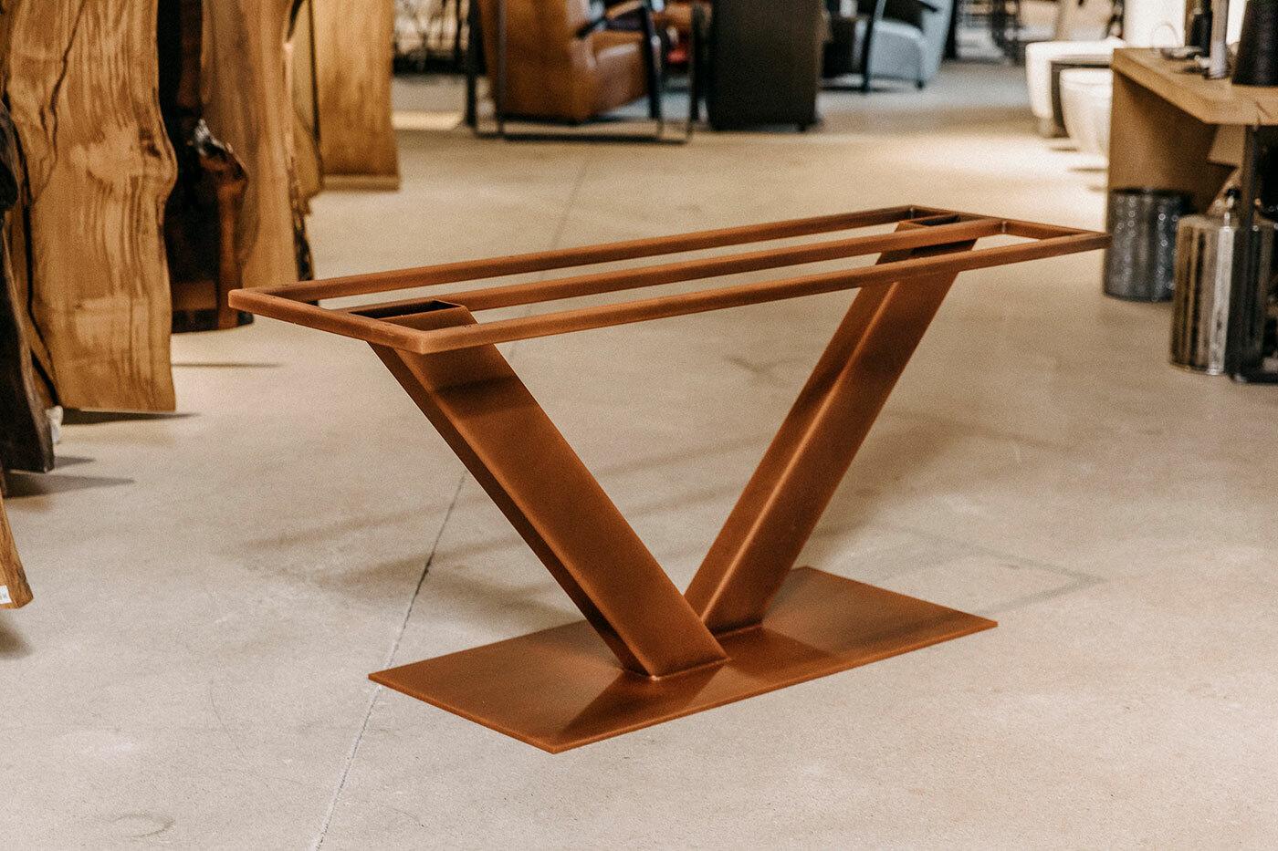 Metall Tischgestell Suka nach Maß Rost-Optik