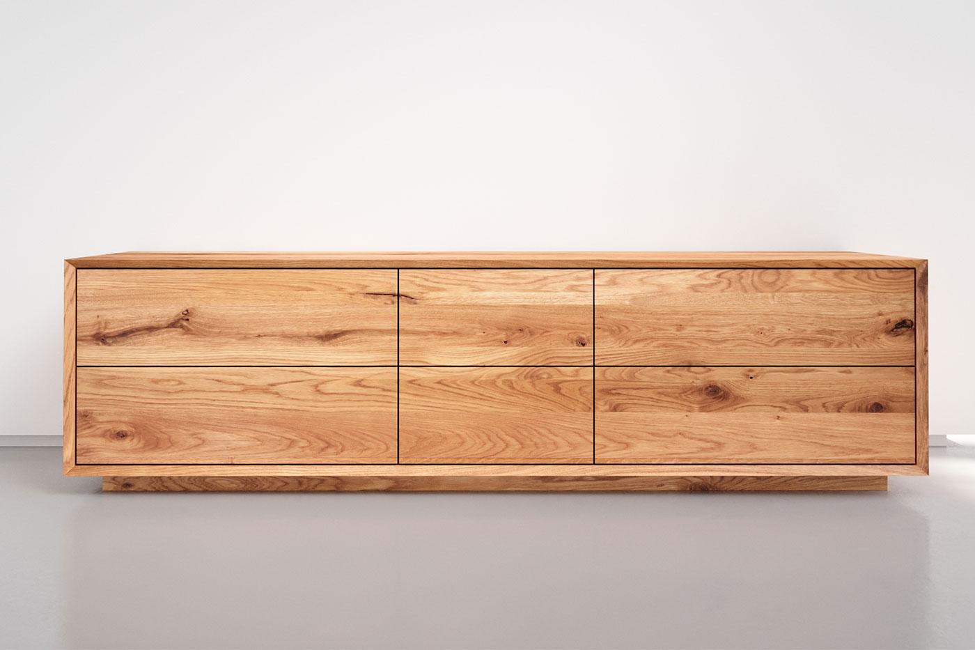 Eiche Sideboard nach Maß mit 6 Schubladen