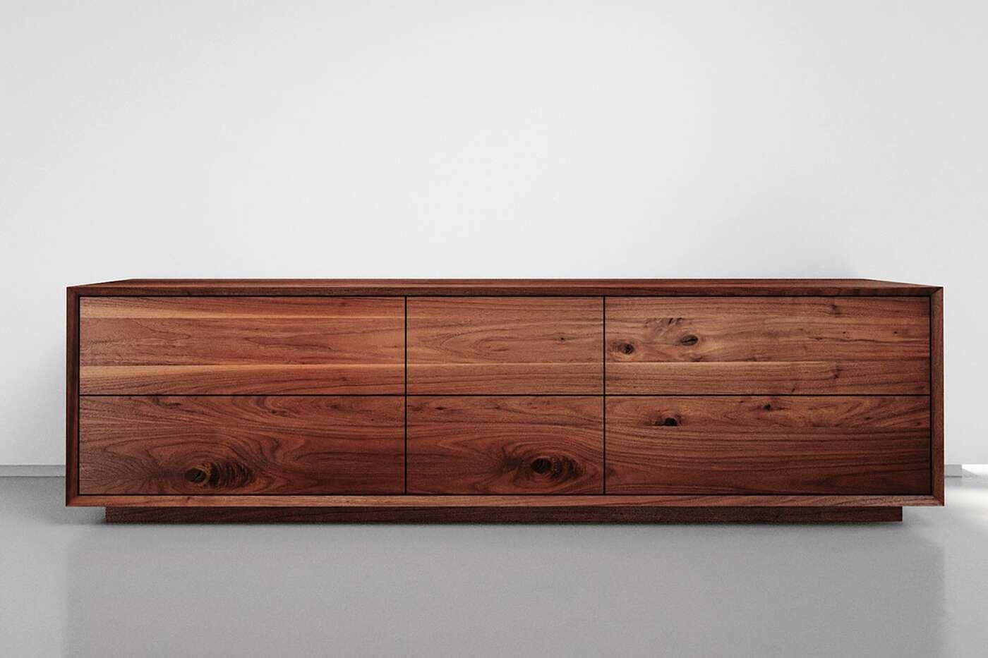 Nussbaum Sideboard mit Schubladen
